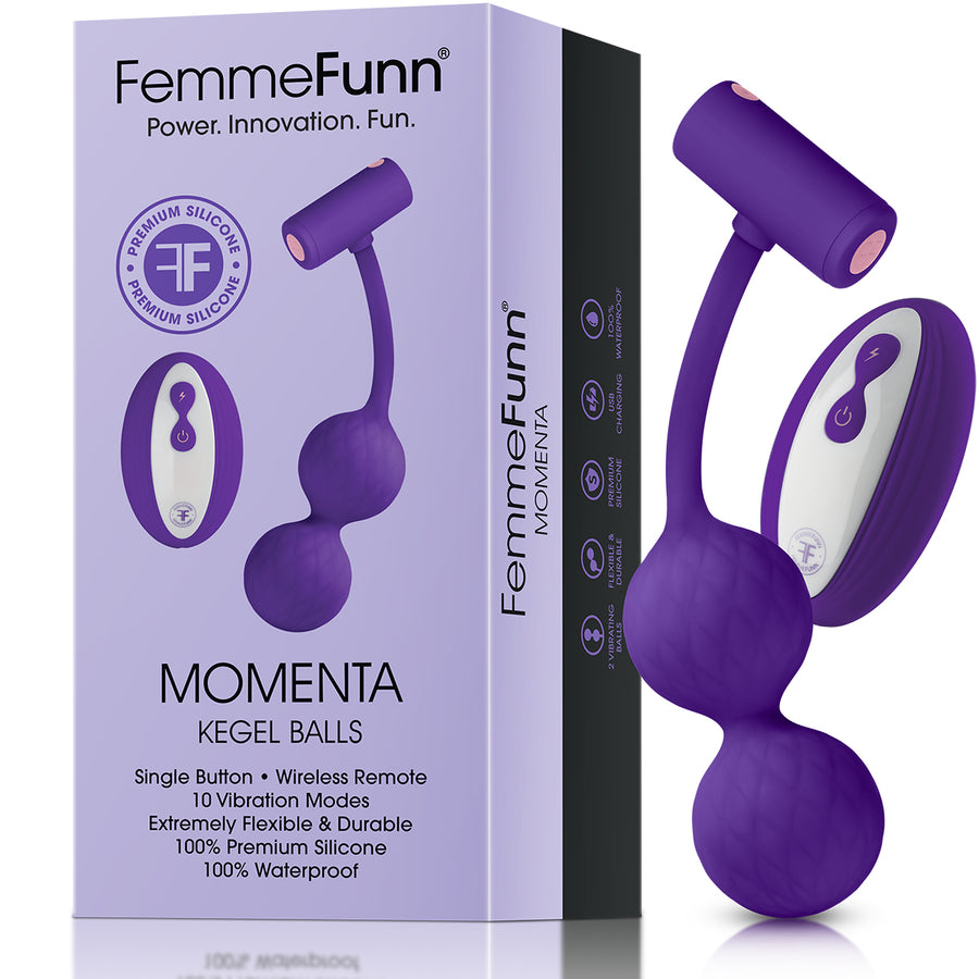 FemmeFunn Momenta Kegel Balls Stimulator  Vibrations & Rattling  2 Colors aw-sex-products.