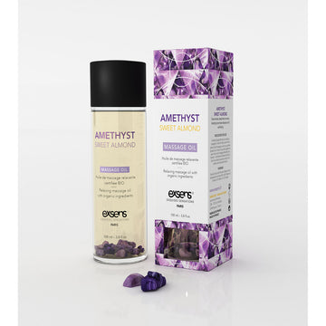 Exsens Amethyst Sweet Almond Massage Oil 100ml aw-sex-products.