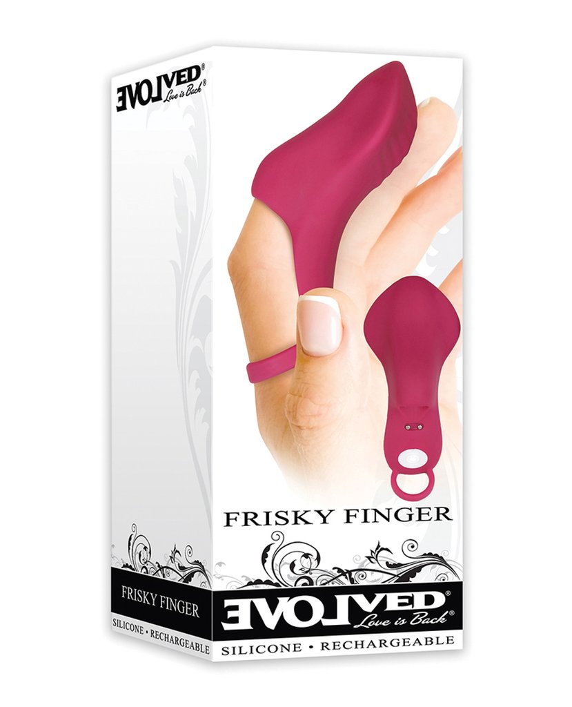 Evolved<br>Frisky Finger<br>Rechargeable<br>Finger Vibrator<br>Silicone aw-sex-products.