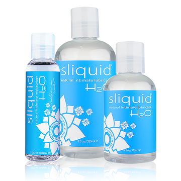 Sliquid Naturals H2O Water-Based Lubricant  3 sizes