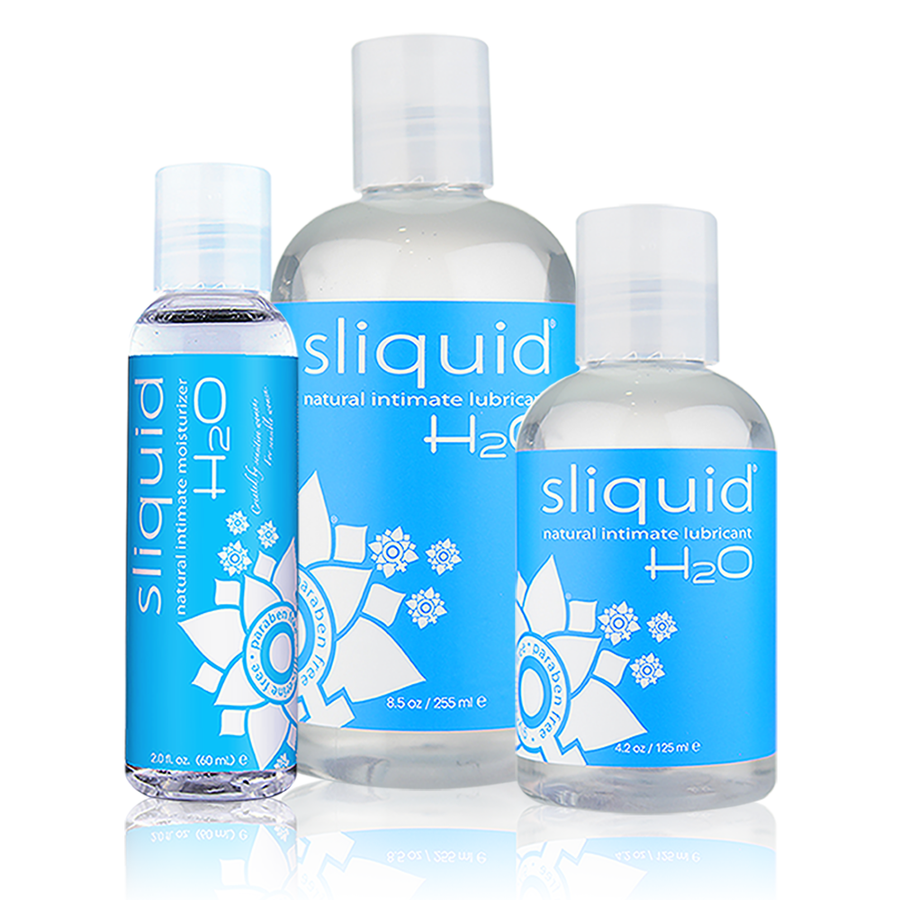 Sliquid Naturals H2O Water-Based Lubricant  3 sizes aw-sex-products.