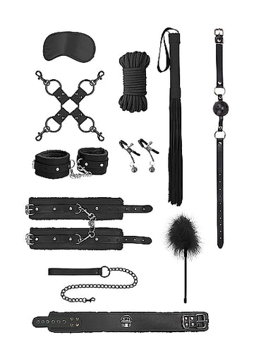 Ouch! <br>Intermediate Bondage Kit<br>Black aw-sex-products.