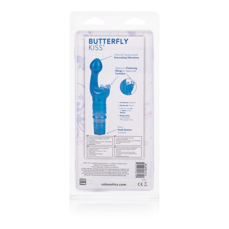 Cal Exotics<br>Butterfly Kiss<br>G-Spot<br>Vibrator<br>Blue or Pink