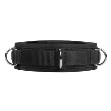 Neoprene <br> Bondage Collar<br>3 D-Rings aw-sex-products.