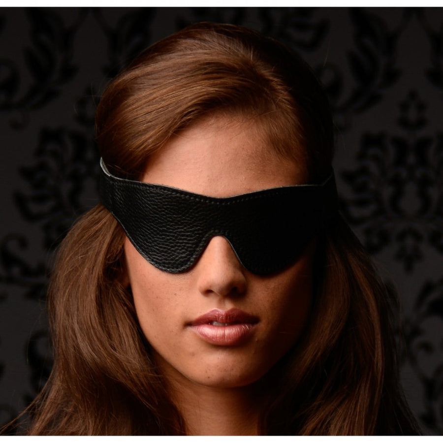 Onyx<br>Leather<br>Blindfold aw-sex-products.