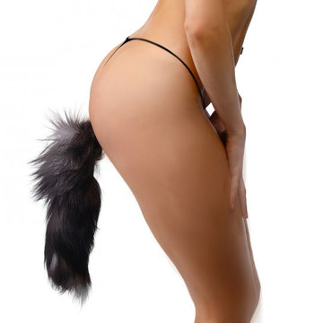 Grey Fox Tail<br>Anal Plug aw-sex-products.