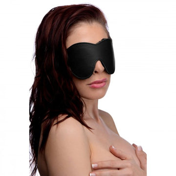 Black Fleece Lined Blindfold aw-sex-products.