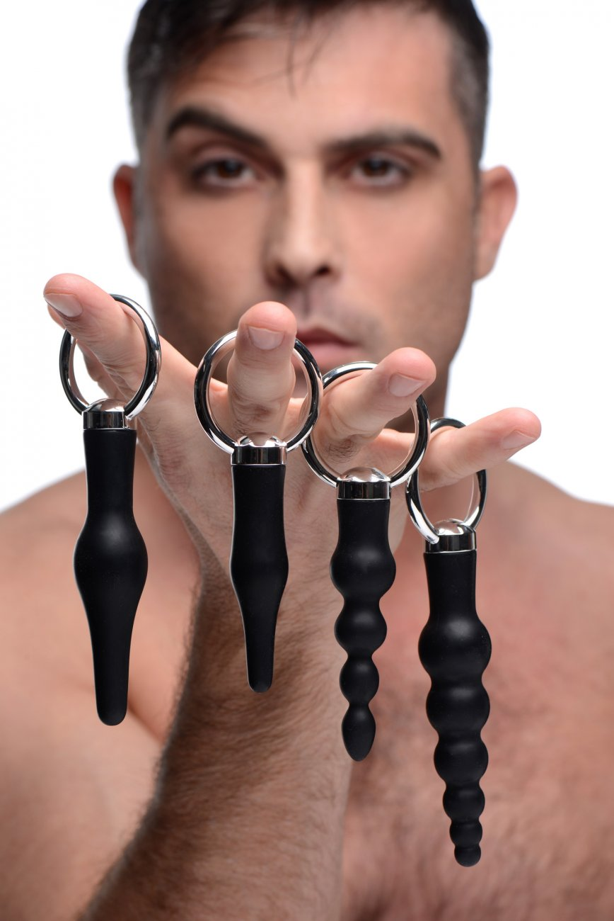 4 Piece Silicone Anal Ringed Rimmer Set aw-sex-products.
