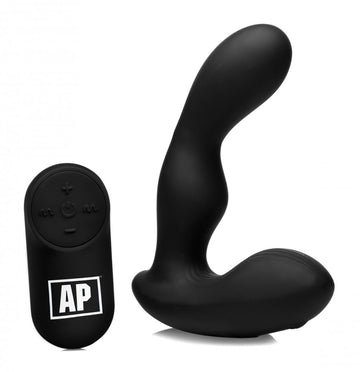 7X P-Stroke<br>Silicone<br> Prostate Stimulator<br> with<br>Stroking Shaft aw-sex-products.
