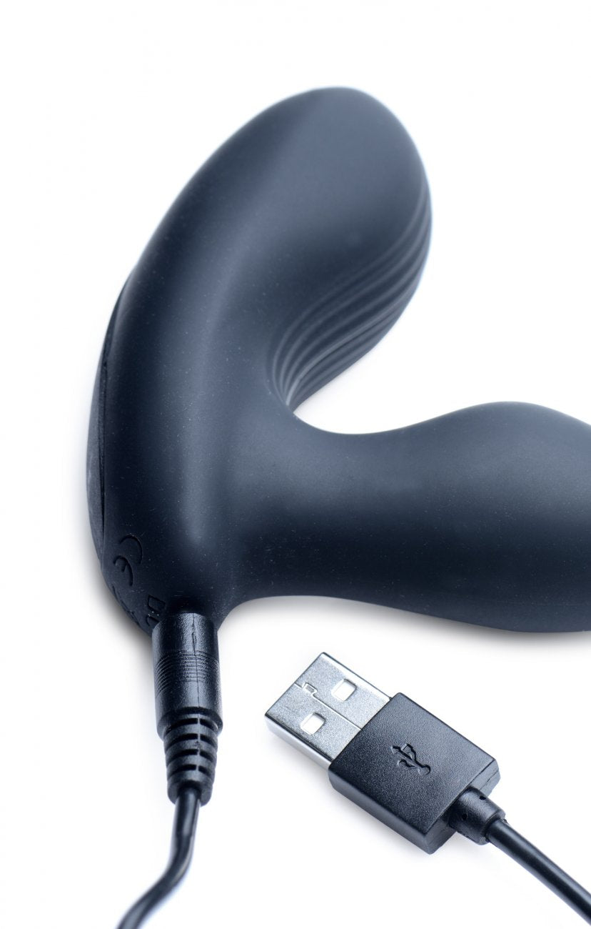 7X P-Stroke<br>Silicone<br> Prostate Stimulator<br> with<br>Stroking Shaft