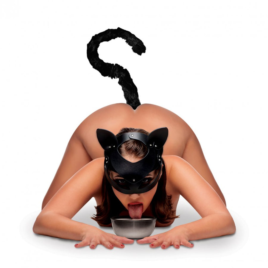 Cat Tail<br>Anal Plug<br>and Mask Set aw-sex-products.