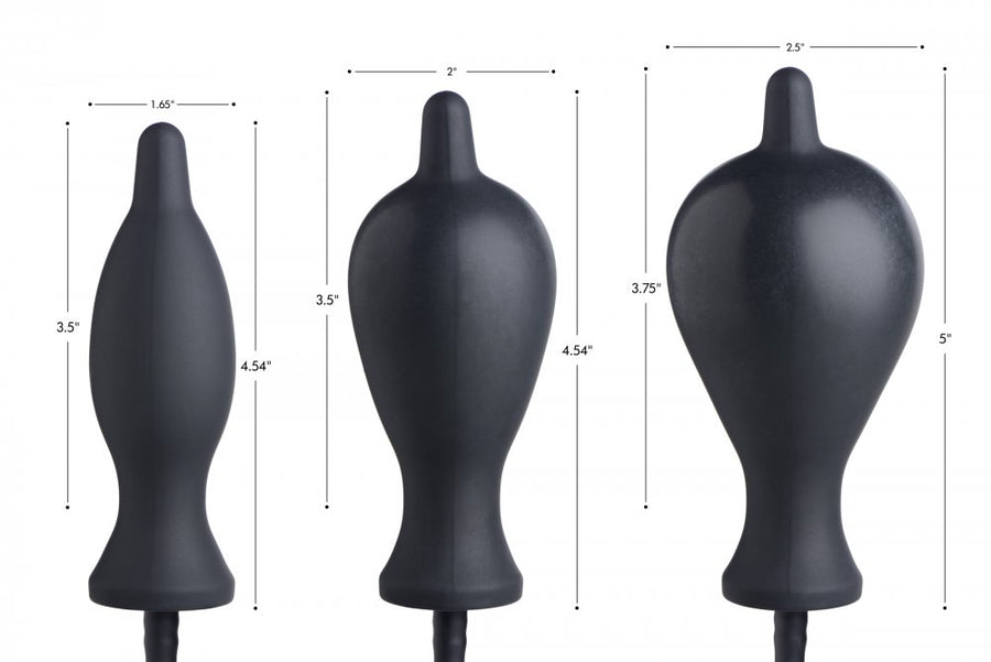 Dark Inflator Silicone Inflatable Anal Plug aw-sex-products.