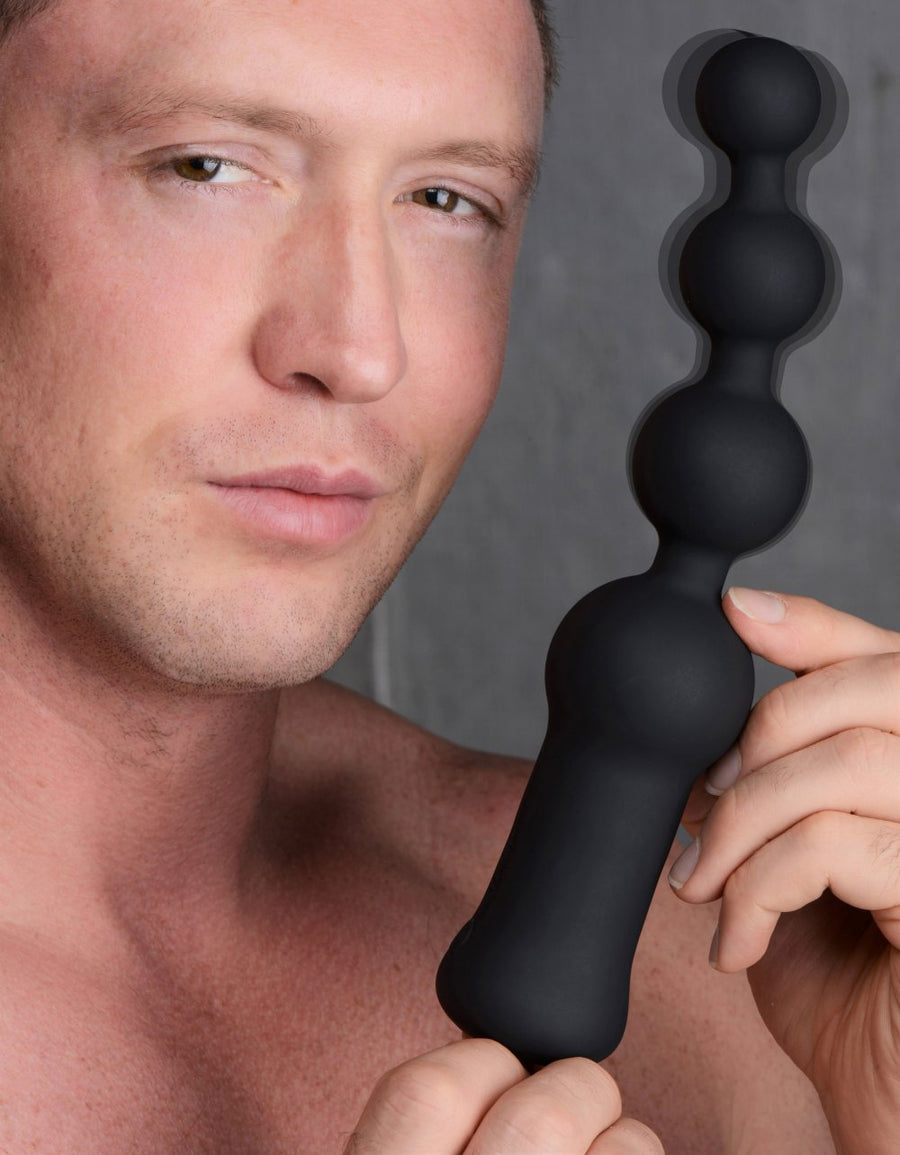Deluxe<br>Voodoo Beads<br>10X Silicone<br>Anal Beads<br>Vibrator aw-sex-products.