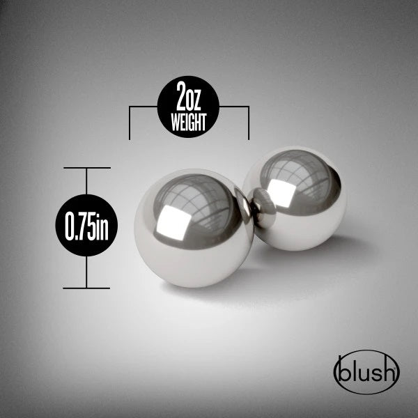 Blush Noir Stainless Steel Kegel Balls aw-sex-products.