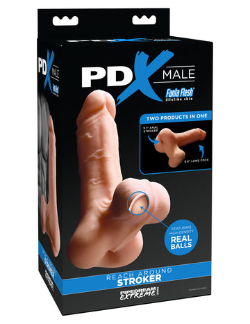 PDX Male<br>Reach Around <br>2-in-1<br>Stroker Masturbator aw-sex-products.