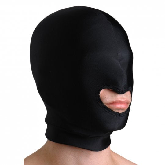 Premium Spandex Hood with Mouth Opening Black aw-sex-products.