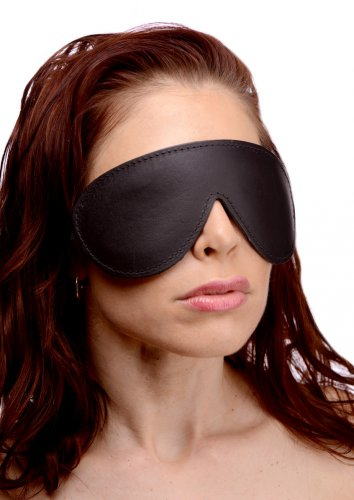 Strict Leather Padded Blindfold aw-sex-products.