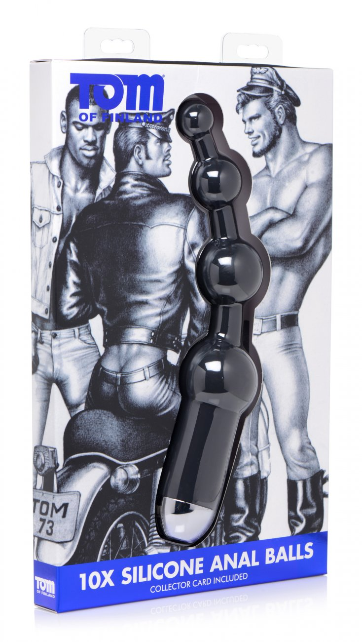 Tom of Finland <br>10X Silicone <br> Vibrating<br>Anal Balls aw-sex-products.
