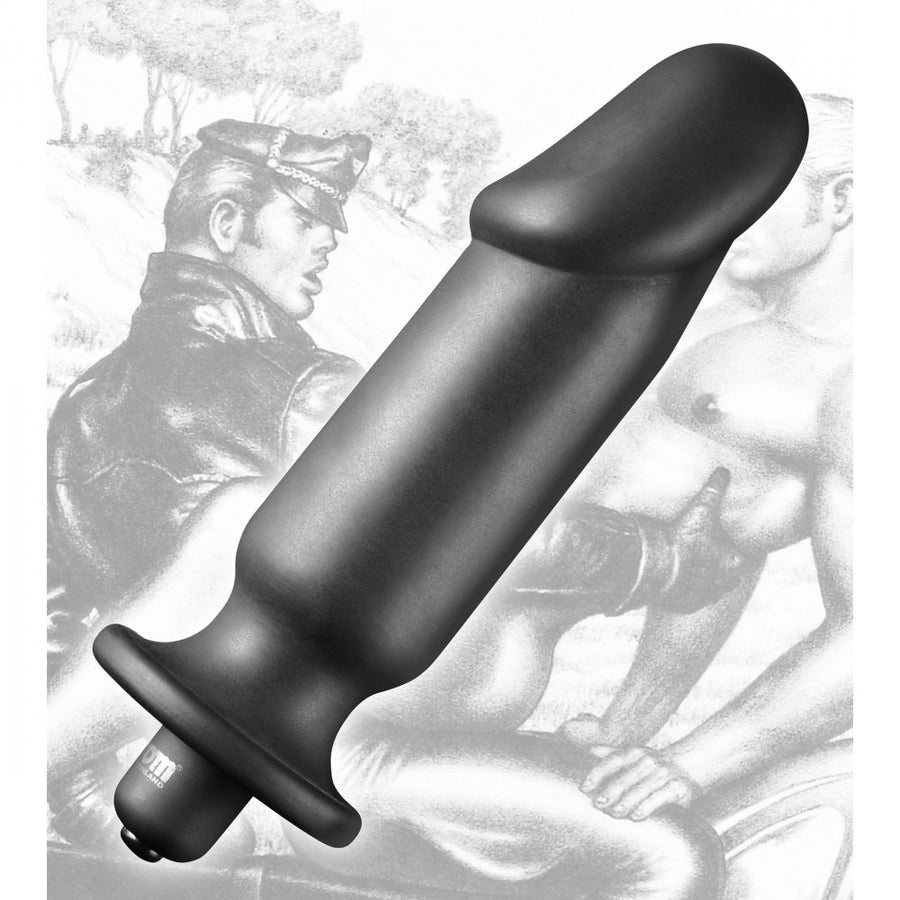 Tom of Finland Silicone Vibrating Anal Plug - Standard and XL Available aw-sex-products.
