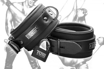 Tom of Finland Neoprene Ankle Cuffs aw-sex-products.