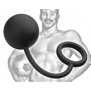 Tom of Finland <br>Cock Ring<br> with<br> Heavy Anal Ball aw-sex-products.