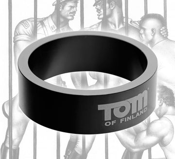 Tom of Finland <br>50mm Aluminum<br> Cock Ring aw-sex-products.