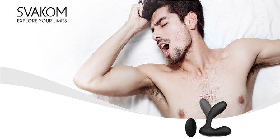 SVAKOM Vick<br> Remote Controlled<br>Dual Motor<br> Prostate<br> Massaging Vibrator aw-sex-products.