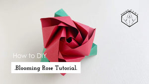 .Origami Blooming Rose Tutorial.