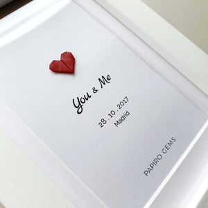 Married custom heart poster gift