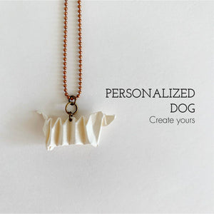 Personalized handmade dachshund dog necklace