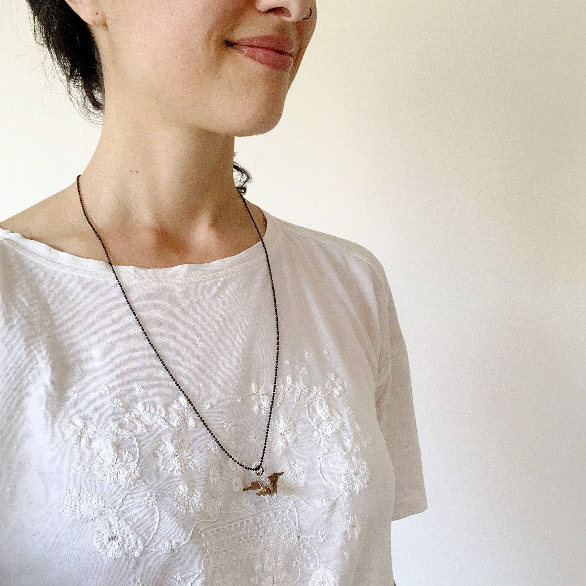 Personalized handmade origami dragon necklace