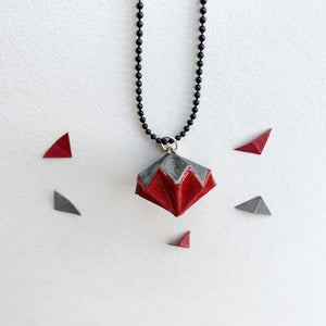 Original origami diamond necklace