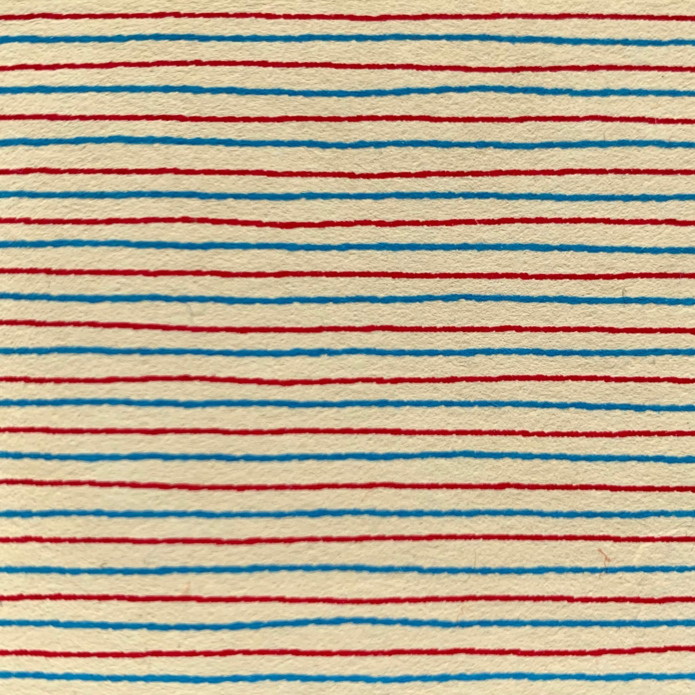 Red and blue lines paper