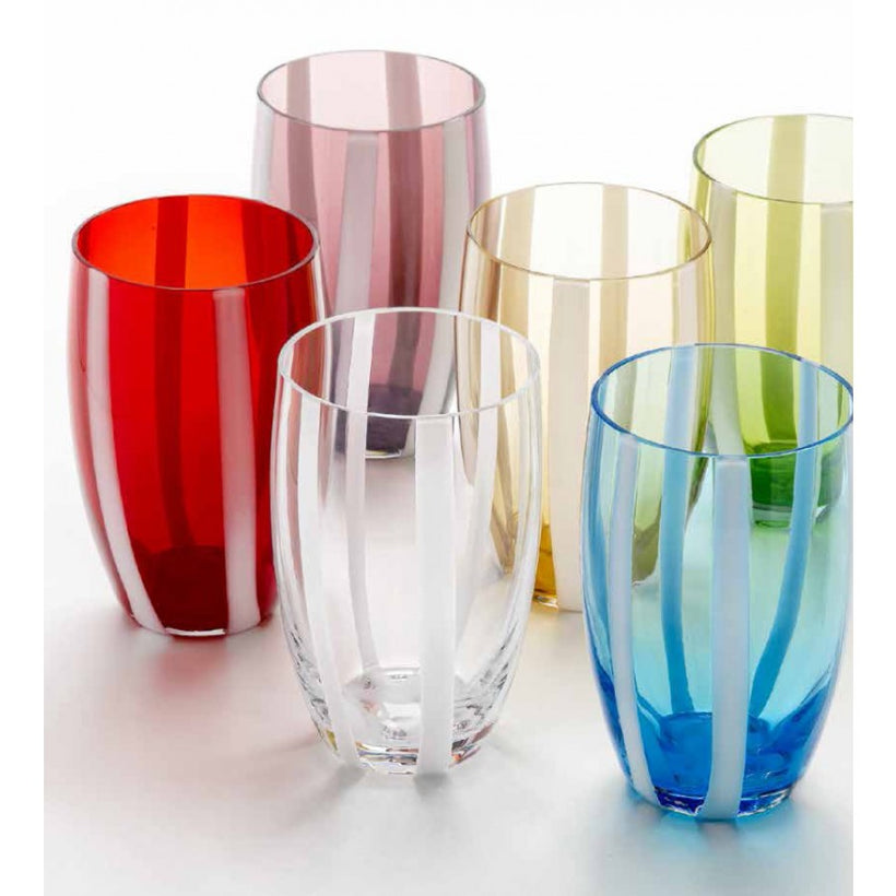 Gessato Coloured Glassware