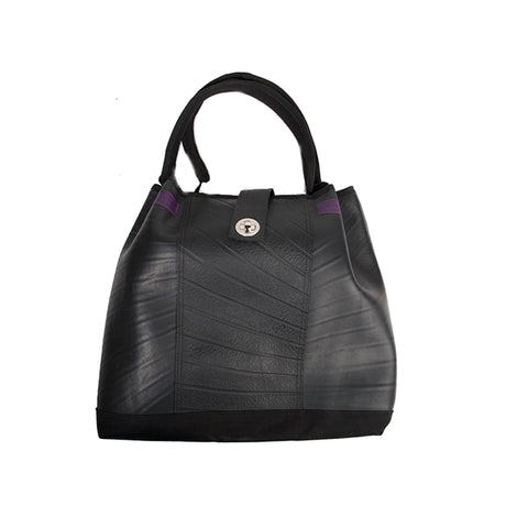 anna recycled rubber tote bag