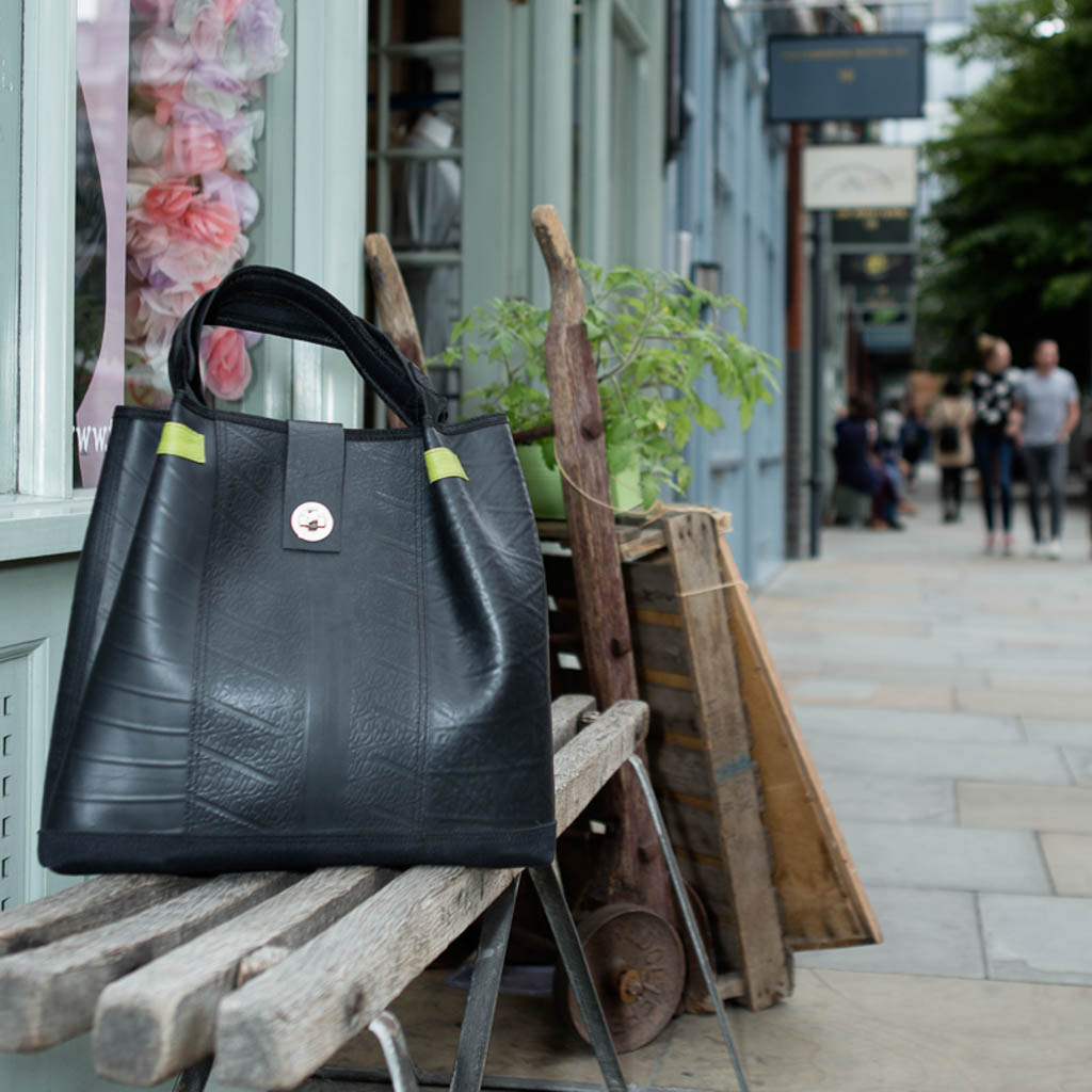 Anna Recycled Rubber Vegan Tote Bag (2 Colours Available) by Paguro Upcycle
