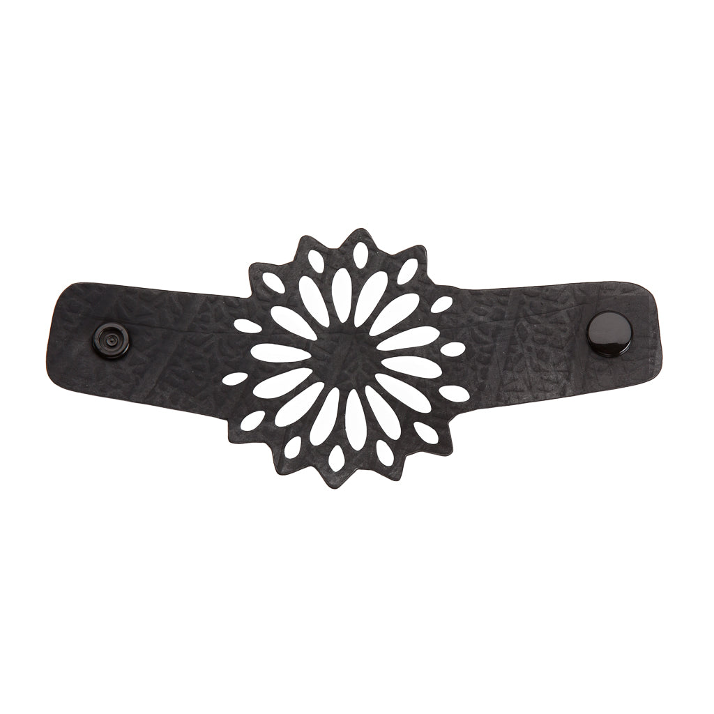Strawflower Recycled Rubber Bracelet by Paguro Upcycle
