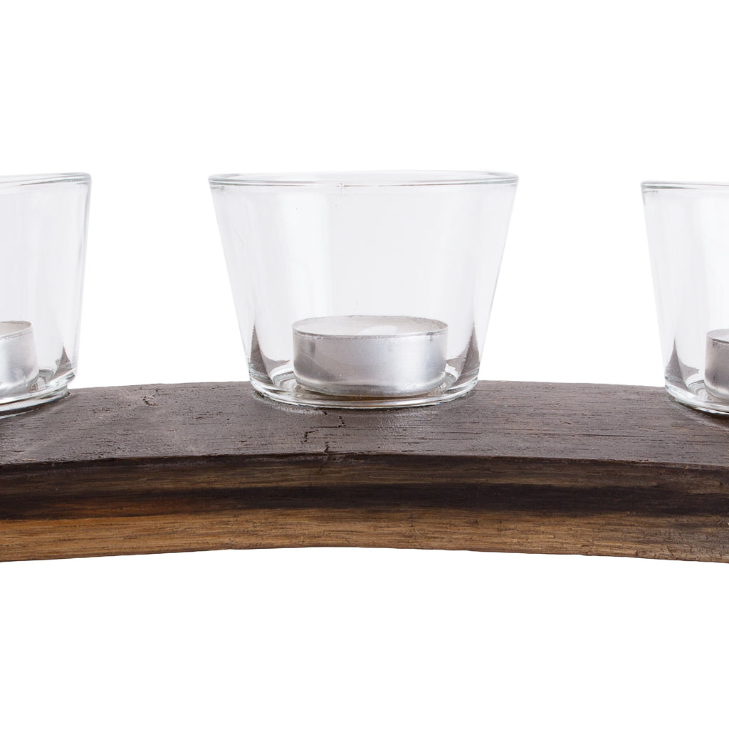 Recycled Vegan Candle Holder (Oak) by Paguro Upcycle