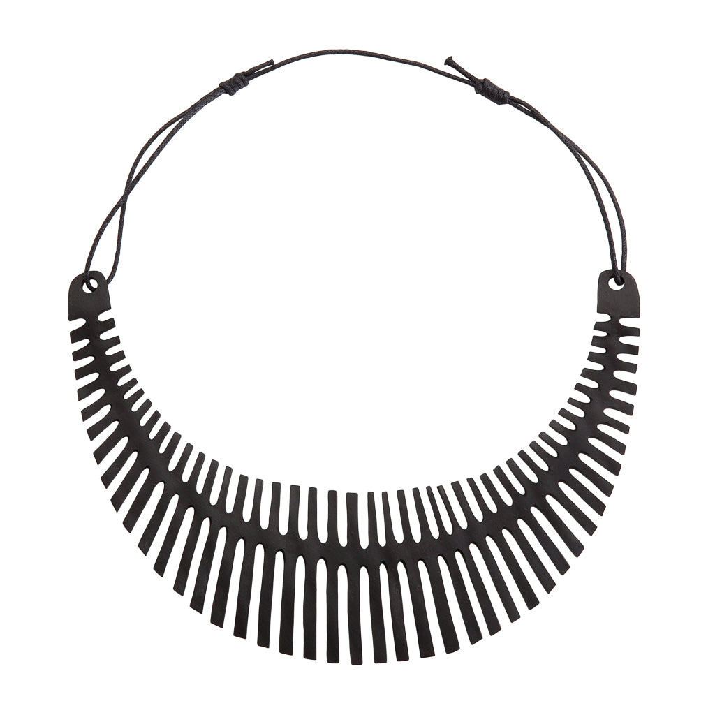 Fishbone Inner Tube Necklace by Paguro Upcycle
