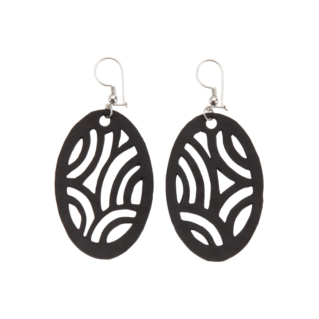 Seraphine (I) Recycled Rubber Earrings by Paguro Upcycle
