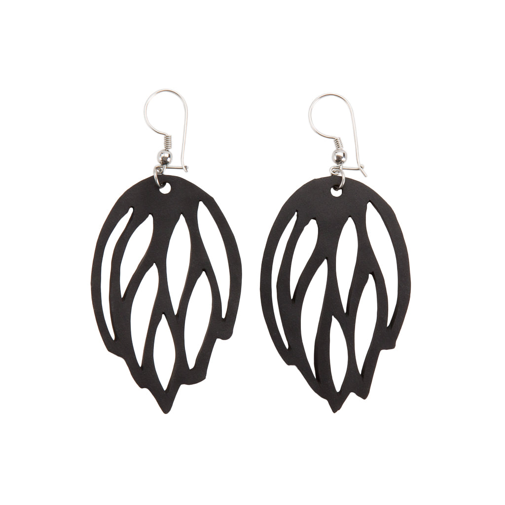 Autumn Recycled Rubber Earrings