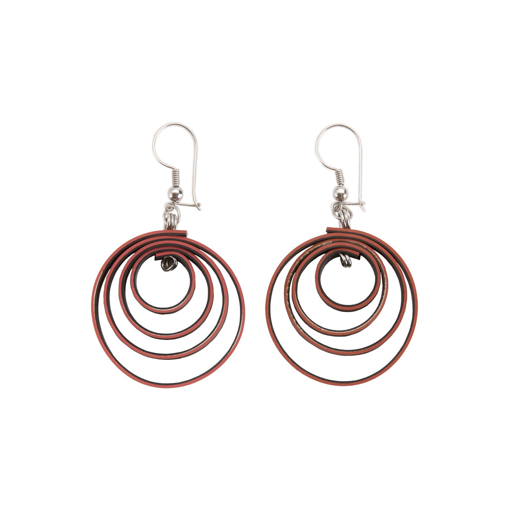 Twirl Recycled Rubber Vegan Earrings