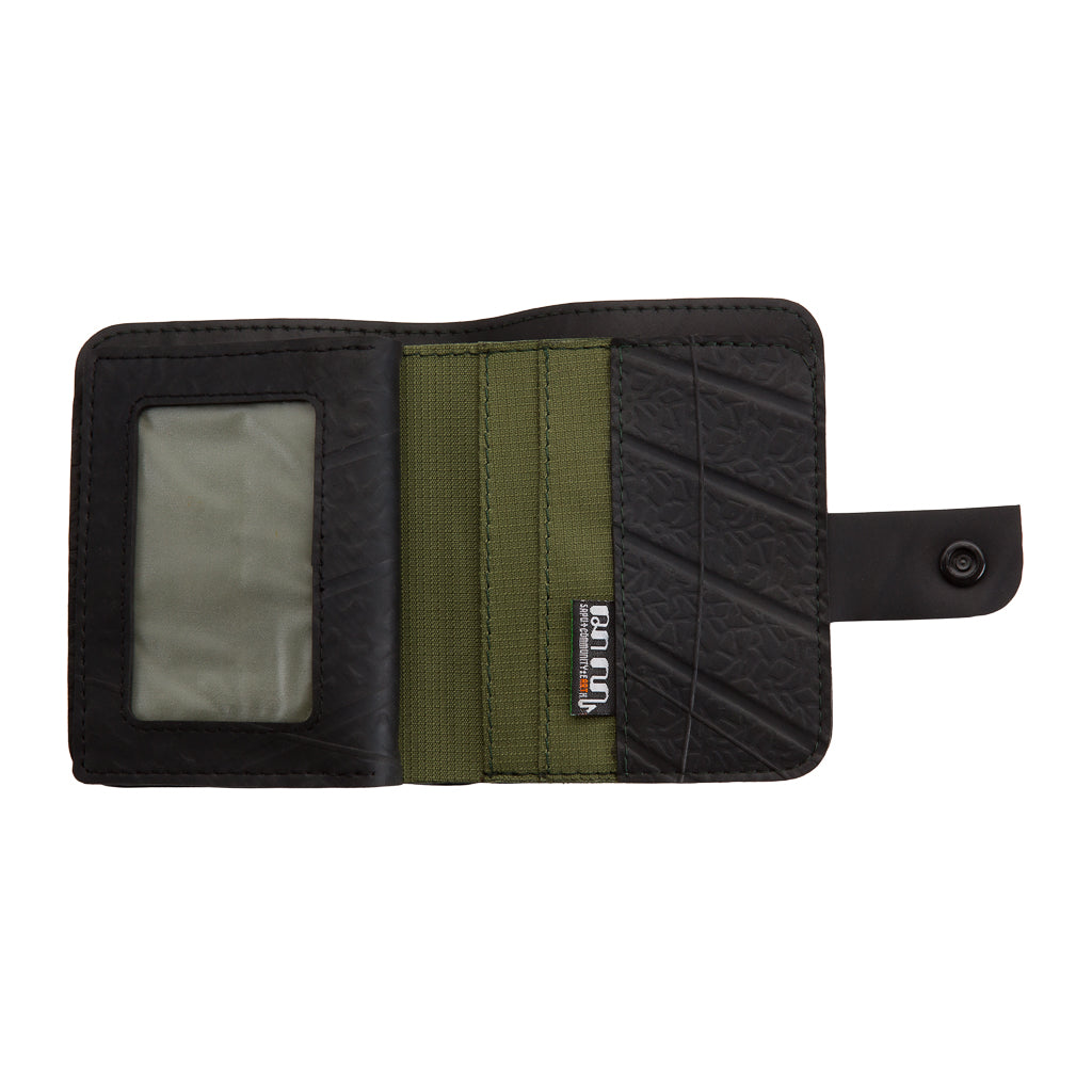Ben Recycled Rubber Vegan Wallet with Coin Compartment