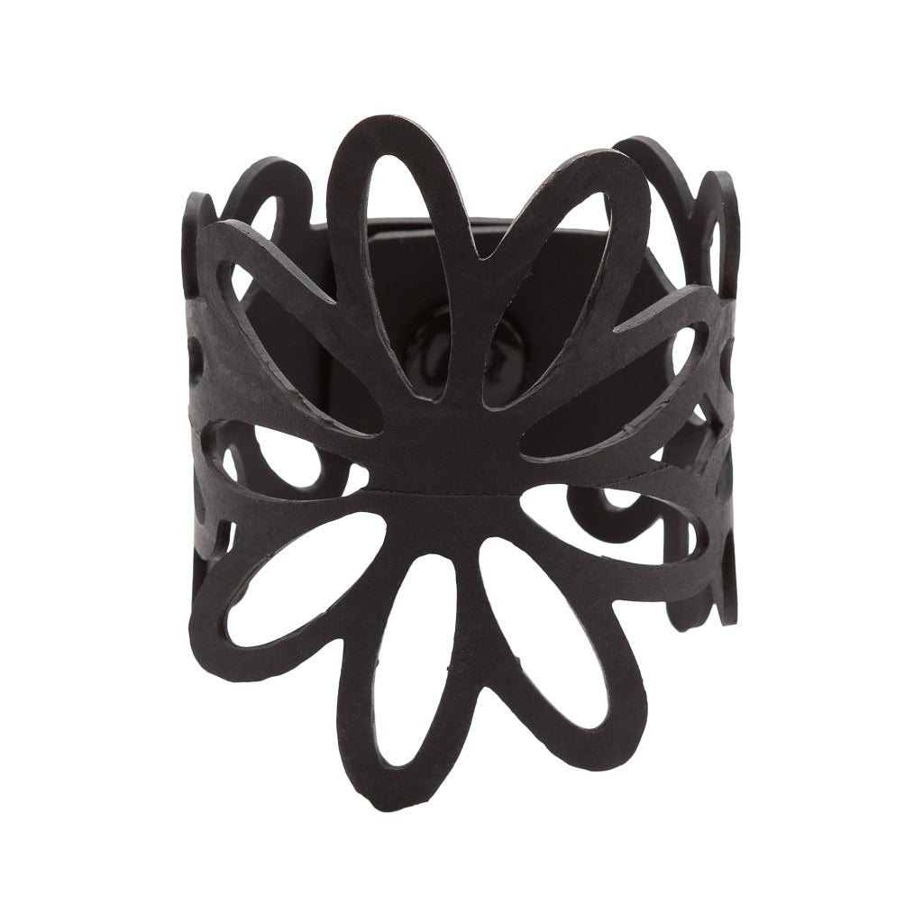 Dianne Flower Recycled Rubber Bracelet