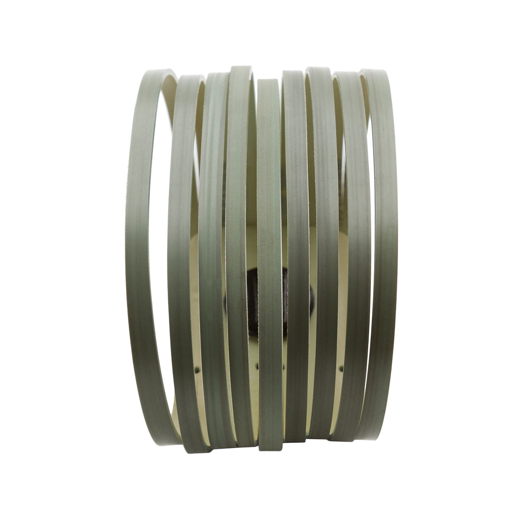 Twirl Recycled Rubber Bracelet (Olive)