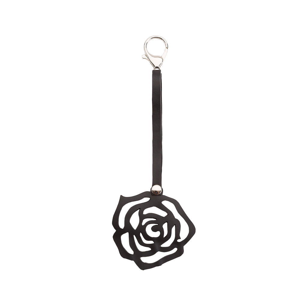 Rose Handmade Recycled Rubber Vegan Keyring by Paguro Upcycle