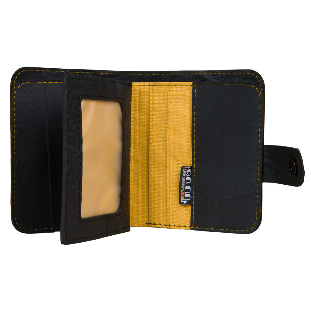 Ben Recycled Rubber Wallet with coin compartment