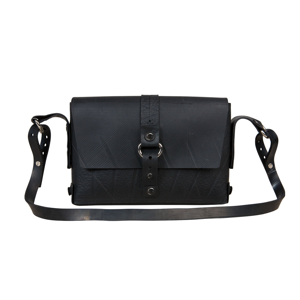 Reina Black Vegan Handbag by Paguro Upcycle