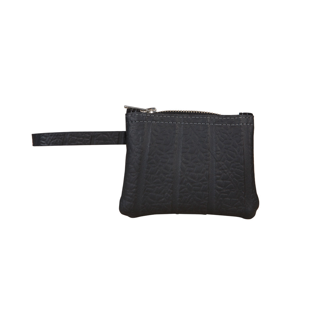 Petite Recycled Rubber Vegan Wristlet Pouch