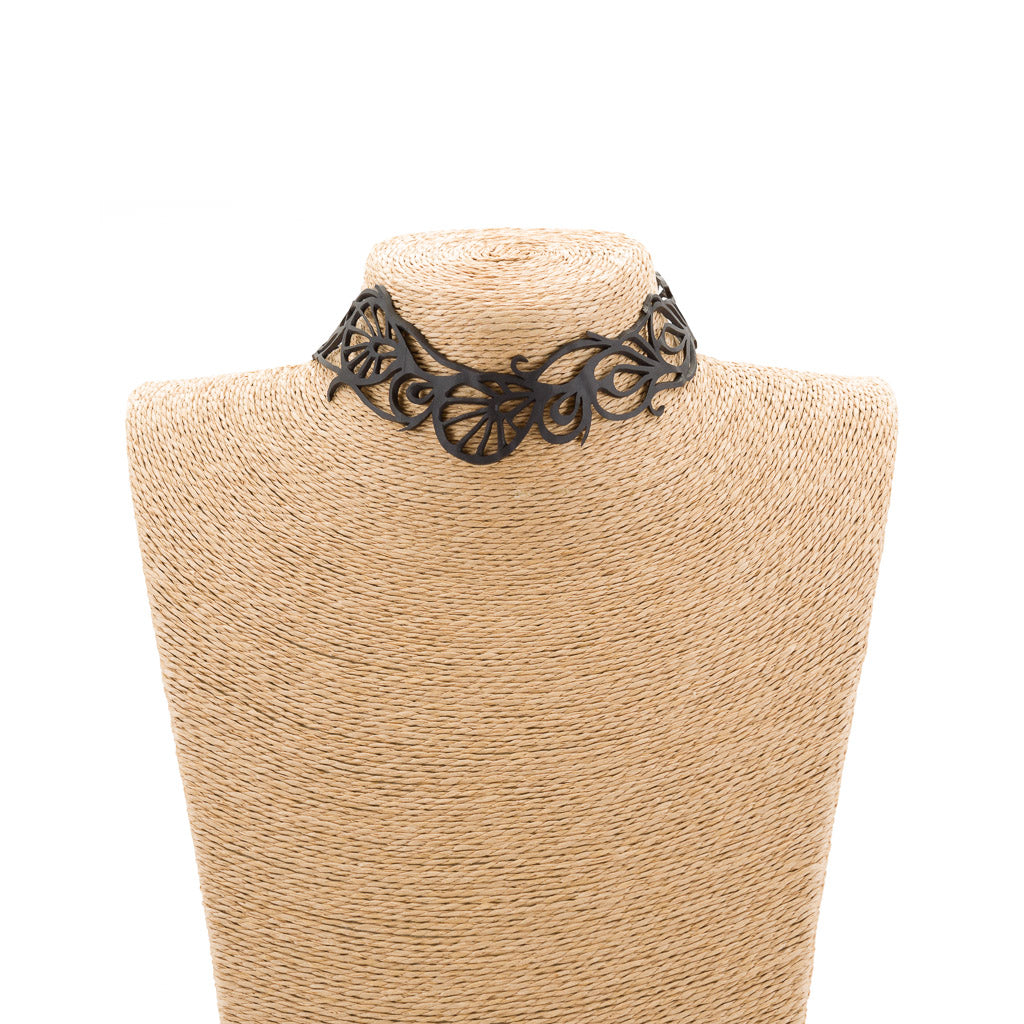 Bella Elegant Inner Tube Choker by Paguro Upcycle